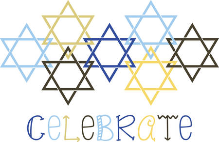 Celebrate Hanukkah with this festive Star of David design. Stok Fotoğraf - 41367793