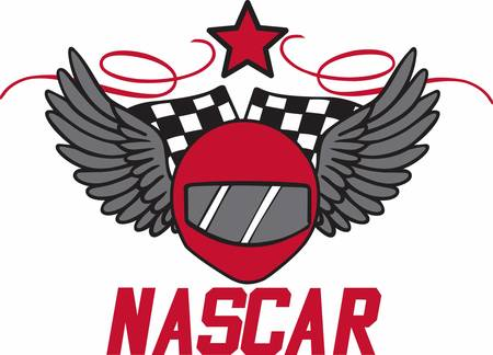 nascar: Racers will love this winged helmet design.