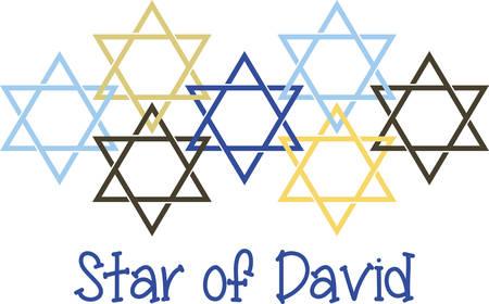 Celebrate Hanukkah with this festive Star of David design. Illusztráció