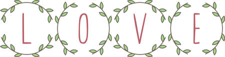 festoon: A lovely laurel wreath love message for someone special.