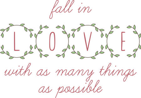 coronal: A lovely laurel wreath love message for someone special.