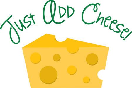치즈 테마 셔츠를위한 치즈의이 웨지를 사용합니다.