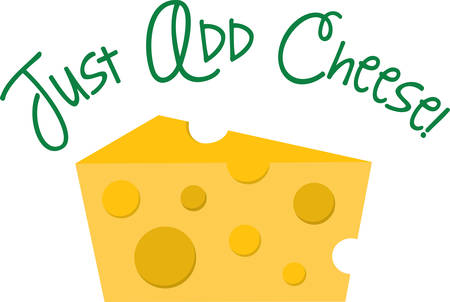Use this wedge of cheese for a cheese theme shirt. Çizim