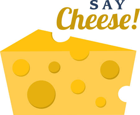 say cheese: Use this wedge of cheese for a cheese theme shirt. Illustration