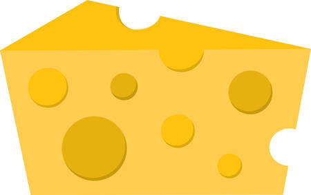 wedge: Use this wedge of cheese for a cheese theme shirt. Illustration