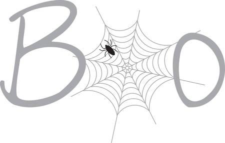 Une araignée est une grande décoration Halloween. Banque d'images - 41367913