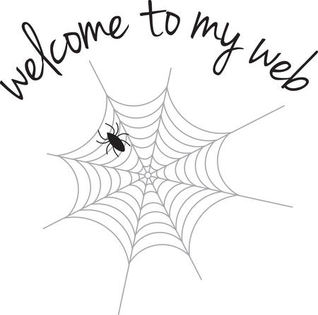black widow: A spider is a great Halloween decoration. Illustration