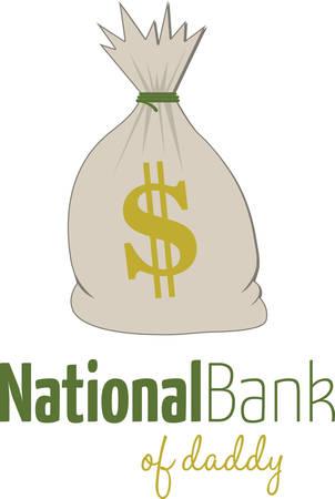 bucks: Use this bag of money on a fun shirt.