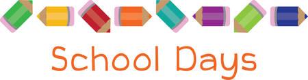 Gebruik deze potloodgrens voor een schoolproject of een lerarencadeau.