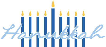 Celebrate Hanukkah with this festive menorah. Иллюстрация