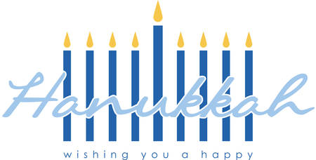 Celebrate Hanukkah with this festive menorah. Illustration