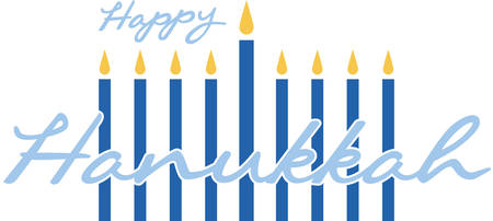 Celebrate Hanukkah with this festive menorah. Stok Fotoğraf - 41368390