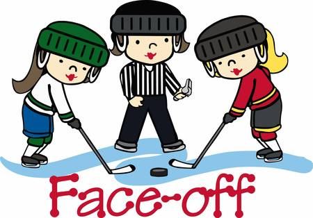 umpire: Hockey lovers will like a fun game on the ice. Illustration