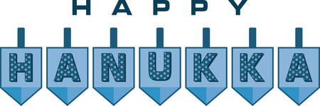 hanukka: Celebrate Hanukkah with these festive dreidels. Illustration