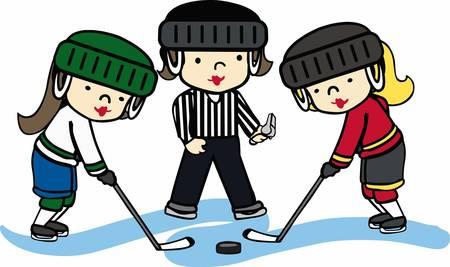 Hockey lovers will like a fun game on the ice. Ilustração