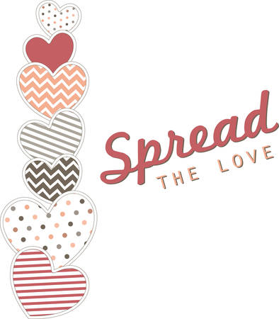 Use this heart border for a Valentine towel.