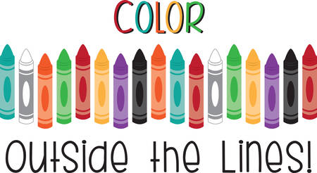 Use this crayon border for a fun pocket of a shirt. Ilustrace