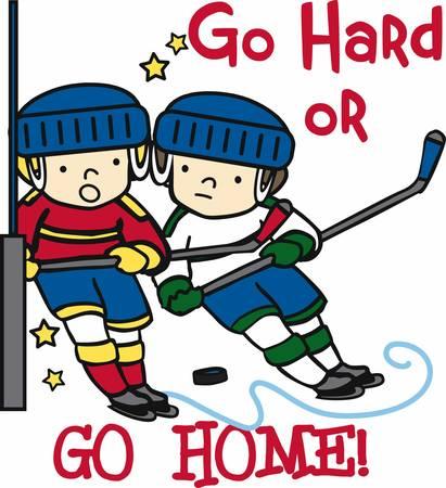 Les amateurs de hockey seront comme un jeu amusant sur la glace. Banque d'images - 41368583