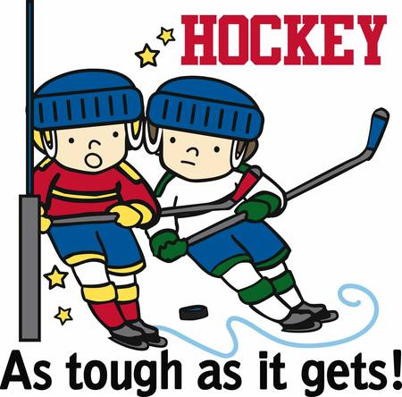 fun game: Hockey lovers will like a fun game on the ice. Illustration