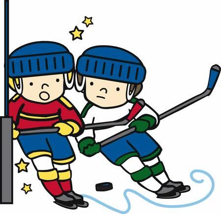Les amateurs de hockey seront comme un jeu amusant sur la glace. Banque d'images - 41368590