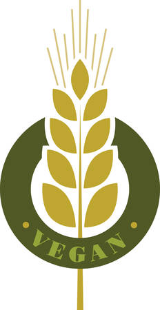 Use this wheat design for a vegan company shirt.