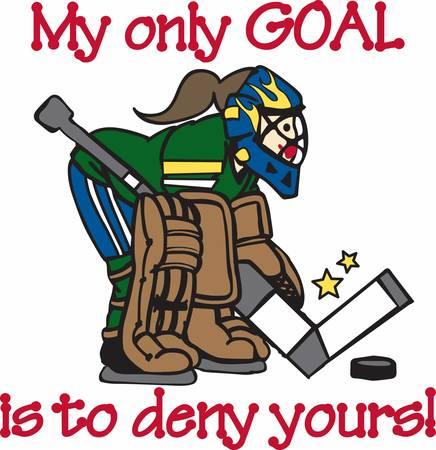 Les amateurs de hockey seront comme un grand gardien de but. Banque d'images - 41368614