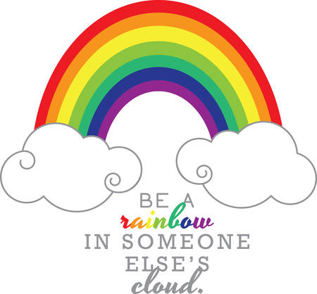 Use this pot of rainbow on a dress for a little girl.