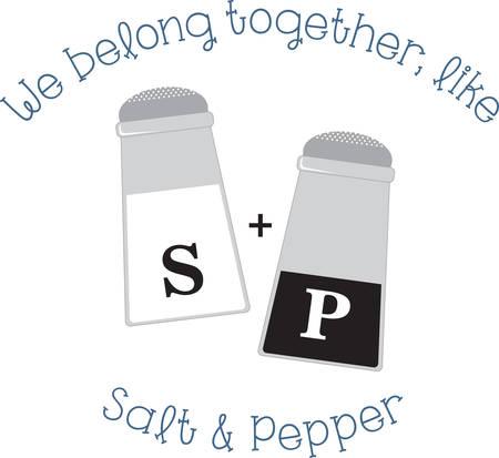 ナプキン エプロンやリネンのこの塩コショウのシェーカーを使用します。  イラスト・ベクター素材