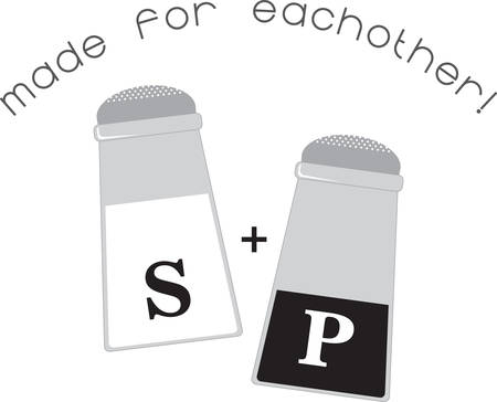 Use this Salt  Pepper shaker on a napkin apron or linen.