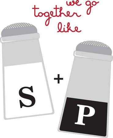 Use this Salt  Pepper shaker on a napkin apron or linen. Фото со стока - 41368622