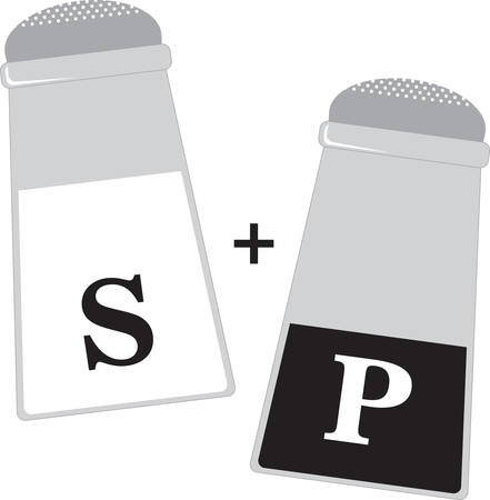 salt pepper: Use this Salt  Pepper shaker on a napkin apron or linen.
