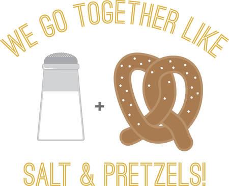 Use this Salt  Pretzel on a friendly shirt.