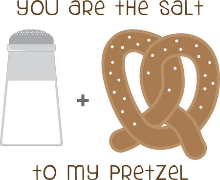 Use this Salt  Pretzel on a friendly shirt.