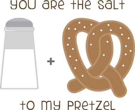 Use this Salt  Pretzel on a friendly shirt. Фото со стока - 41368643