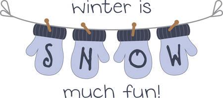 mitten: Use this mitten design for a snowy season gift. Illustration