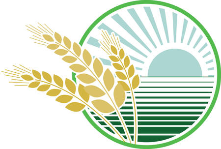 Use this harvest design as the logo on a polo shirt.