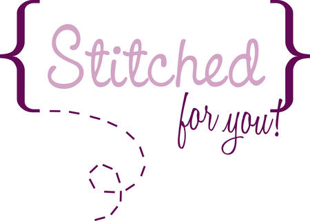 sew tags: A single loop of yarn around an implement such as a knitting needle pick those beautiful designs by concord Illustration