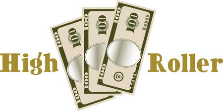 love of money: Use this money design for a big spender you love.