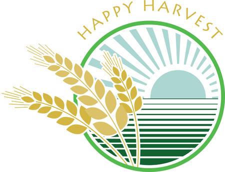ポロシャツのロゴとしてこの収穫のデザインを使用します。  イラスト・ベクター素材