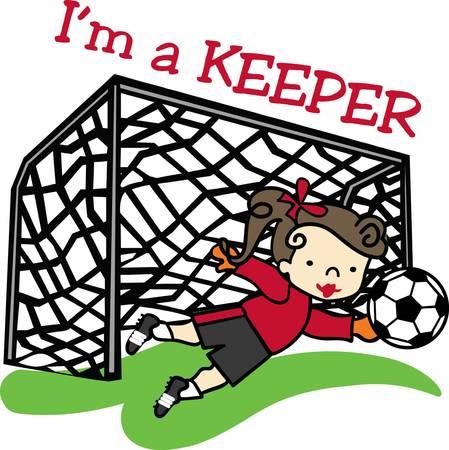 keeper: Score a goal with a fun soccer design.