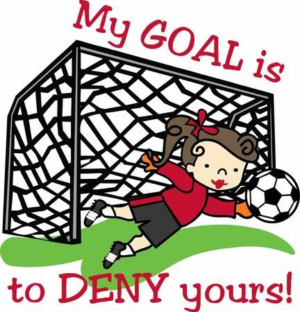楽しいゴール サッカー デザイン。  イラスト・ベクター素材