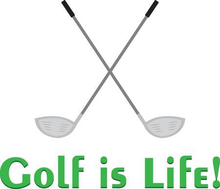 これらの交差のゴルフクラブは、ポロシャツに大きなになります。  イラスト・ベクター素材