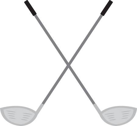 Diese gekreuzten Golfclubs auf einem Polo-Shirt groß. Standard-Bild - 41369941