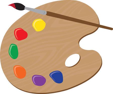Utilizzare questa palette vernice per una camicia artistico. Vettoriali
