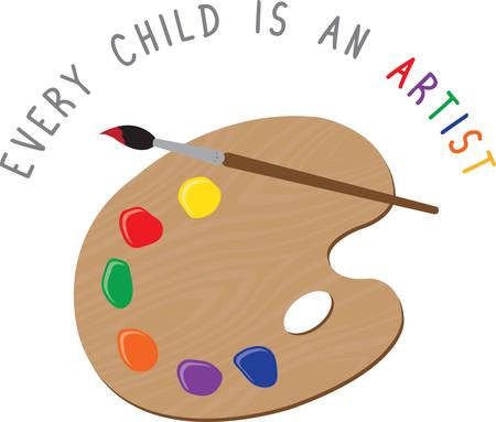 Use this paint palette for an artistic shirt. Reklamní fotografie - 41369952
