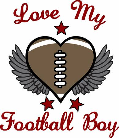 game show: Football fans can show their love for the game with a ball heart.