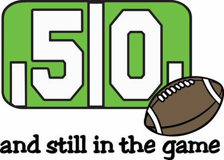Football fans can have their own 50 yard line ball. Illustration