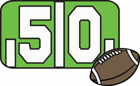 yard: Football fans can have their own 50 yard line ball. Illustration