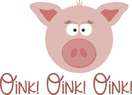 swines: Use this little piggy on a baby bib or toddler shirt.