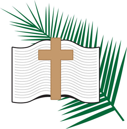 palm sunday: God writes the Gospel not in the Bible alone but also in our symbols.